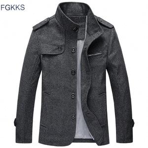 Image 2 - Мужская повседневная куртка FGKKS, ветровка с воротником стойкой, 2019
