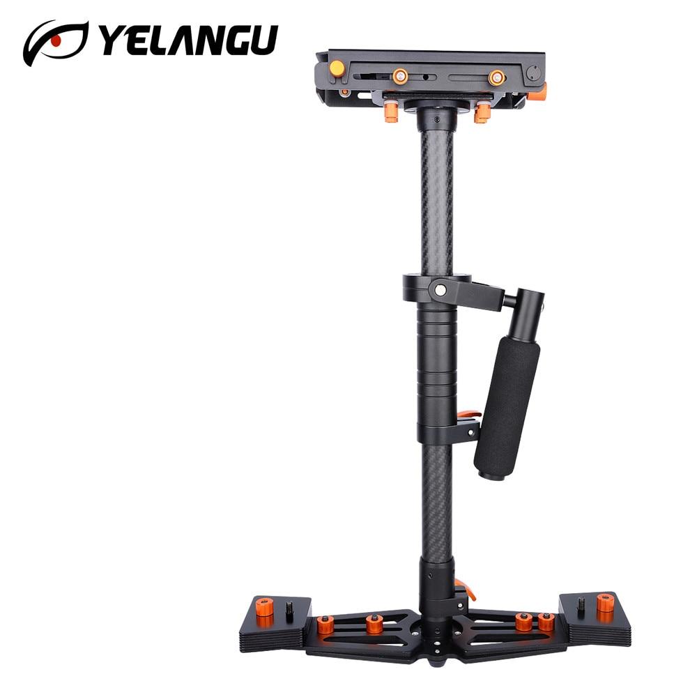 YELANGU Top Grade Carbon Fibre 80CM Stabilizer Professional Camera Steadicam Video Camera Steadycam with Gimbal for All DSLR DV