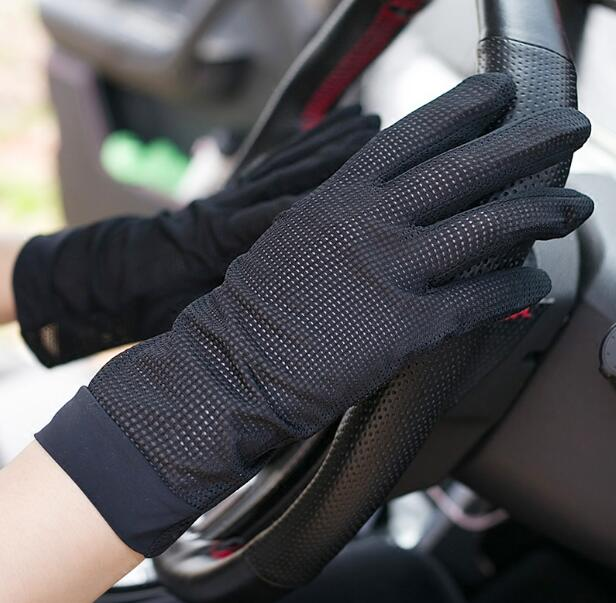 Men's Spring Summer Thin Sunscreen Driving Gloves Male Summer Breathable Riding Gloves R840