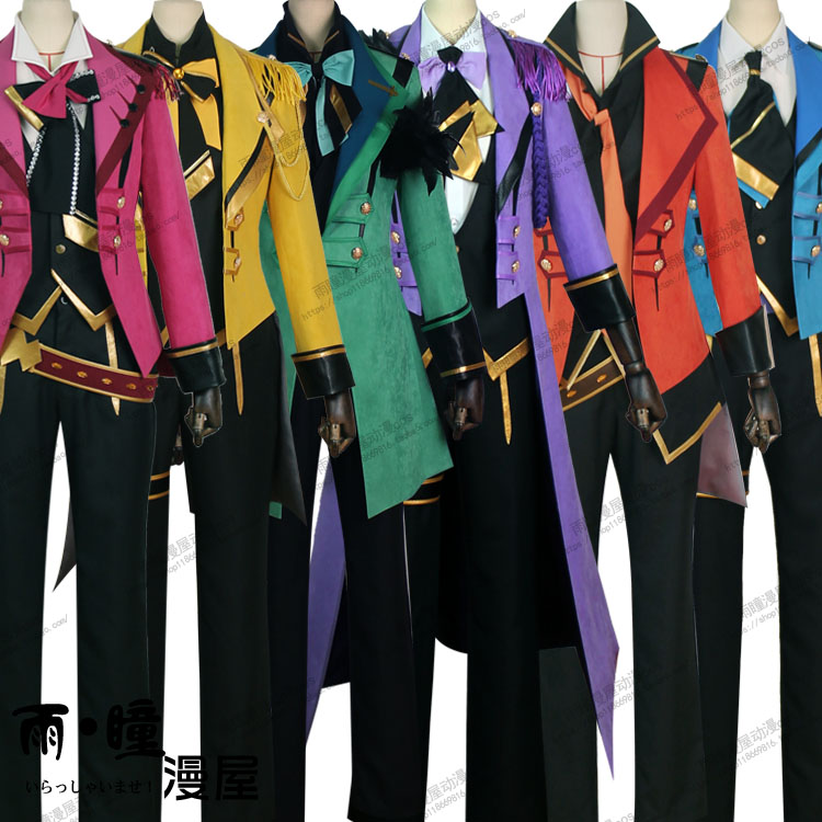 [Customize]2017 NEW Anime Tsukiuta Team Black Six Gravity SJ Suit Uniform Halloween Carnival Cosplay costumes for Adult Freeship