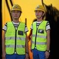 Atacado Fluorescente Amarelo Refletivo de segurança Jaqueta com Bolso para a Construção de Estradas, tênis de corrida, WalkingCycling Frete Grátis