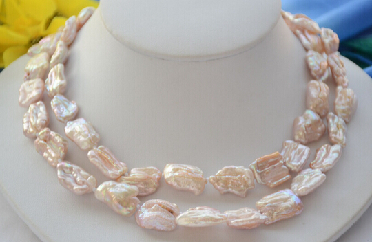 HOT SELL - HOT1857 LAVENDER BAROQUE KESHI dens REBORN PEARL NECKLACE 34inch -Top quality free shipping