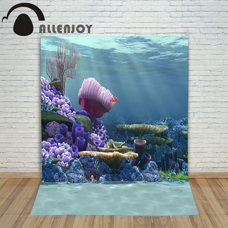 Allenjoy The sea photography background Marine coral tree coral shell backdrop vinyl elegant fantasy photocall mary pope osborne magic tree house 39 dark day in the deep sea