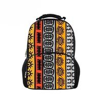 Customized Children School Bags for Kids Girl African Traditional Printing School Backpack Book Bag Teenager Large Felt Bagpack
