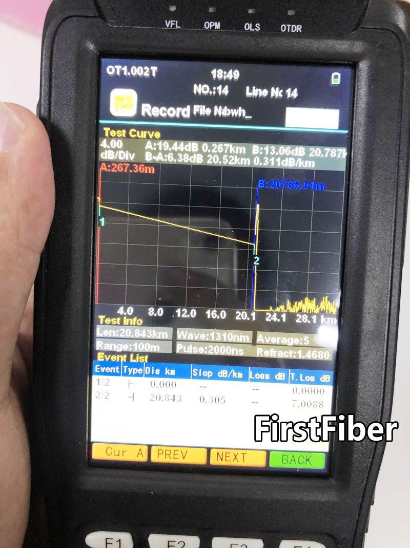 Réflectomètre optique de domaine de temps d'appareil de contrôle d'otdr de haute précision 4 dans 1 OPM OLS VFL Instrument optique de gamme de 3 m à 60 km - 3