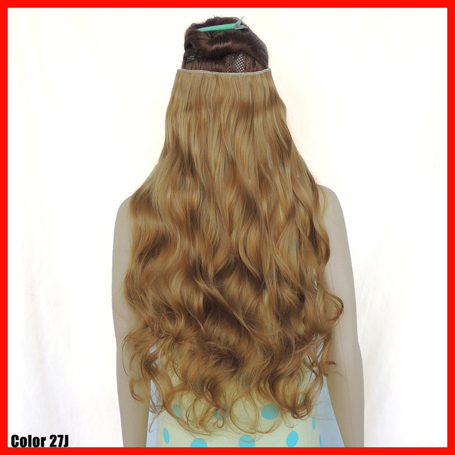 clip in hair extensions 24 inch curly synthetic haar extension