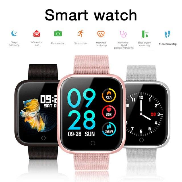 여성 IP68 방수 스마트 워치 P70 P68 블루투스 4.0 Smartwatch For IPhone LG 심박수 모니터 피트니스 트래커