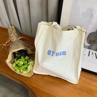 Women Letter Printing Big Canvas Shopping Bag Reusable Soild Extra Tote Eco Environmental Shopper Shoulder Bags For Young Girl