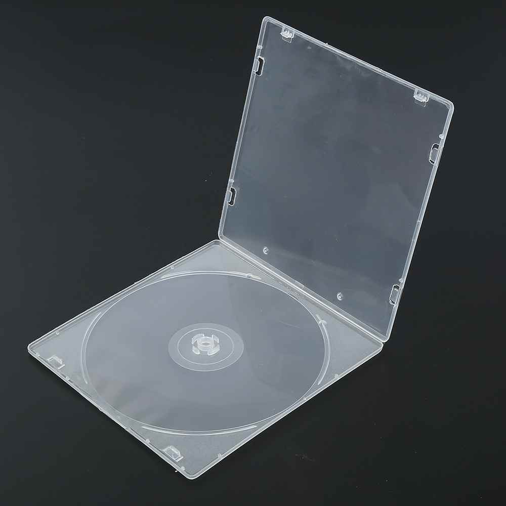 High Quality 1Pc Plastic CD Cases Box Standard Transparent Clear CD DVD Cases Holder Sto ...