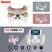 Mini Drone Cheerson CX-10WD-TX Drone Wifi 0.3MP Camera High Hold Mode RC Helicopter FPV Quadcopter VS CX-10WD CX10WD No Remote