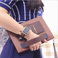 Для apple ipad mini 4 case luxury Leather Case for apple iPad mini 4 Крышка С Магнитным Авто Проснуться Сна с рукой снимет веревка