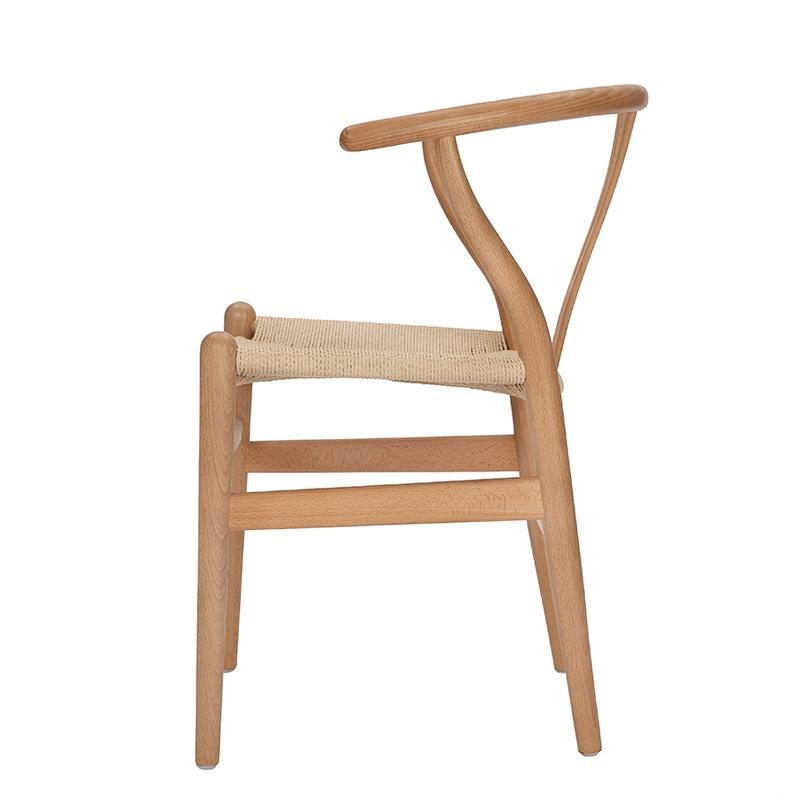 Nordic style dining chair New Chinese casual solid wood Y chair Western restaurant coffee shop back armchair - Цвет: style 2
