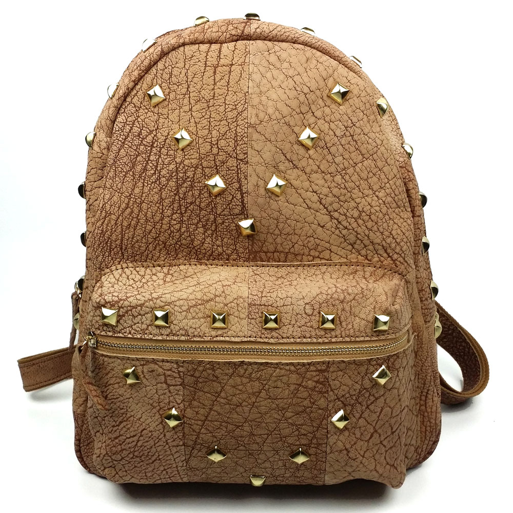 XIYUAN women Genuine cow Leather Rivet backpacks Preppy Style College student backpack school bag for girl Christmas gift bags college girl canvas backpack fruit printing women school backpacks schoolbag for teenagers student book bag preppy style plecak