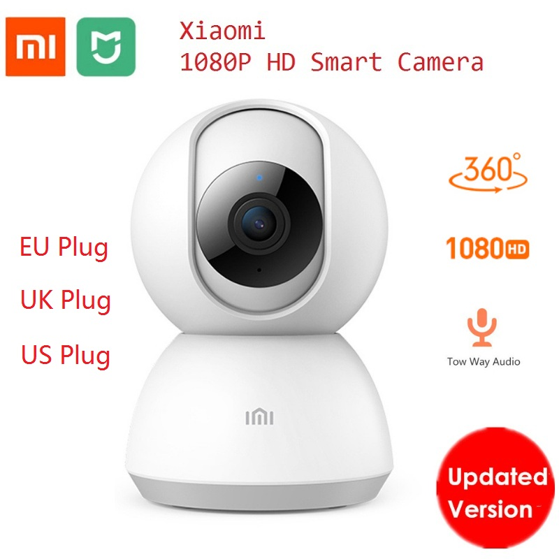 2019 Xiaomi Mijia Smart Camera Webcam 1080P WiFi Pan-tilt Night Vision 360 Angle Video Camera Baby Monitor Home Security Camera(China)