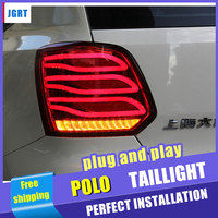 Car Styling for VW polo Taillights 2011 2017 FOR polo LED Tail Light Altis Rear Lamp+Brake+Park+Signal lights