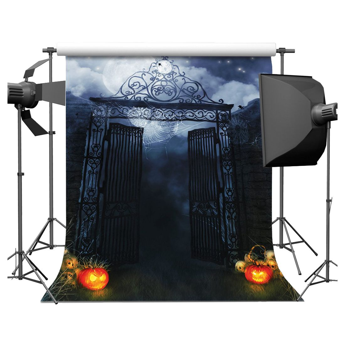 Halloween Vinyl Photography Backdrop Photo Background Studio Prop 5*7ft, Iron gate shanny autumn backdrop vinyl photography backdrop prop custom studio backgrounds njy33