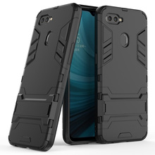 Case For OPPO AX7 Dual Layer Hybrid Armor A7 Shockproof Protective TPU & Hard Back Kickstand Cover