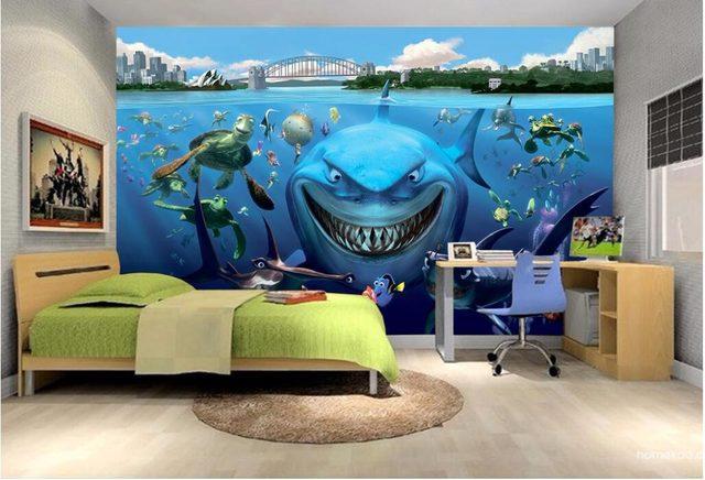 Online Shop Custom mural 3d wallpaper picture sea world aquarium ...