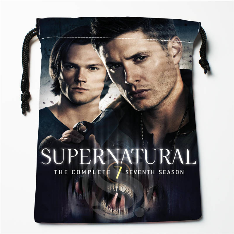 V#bT58 New Supernatural Season Custom Logo Printed  Receive Bag  Bag Compression Type Drawstring Bags Size 18X22cm 7=12JvT58