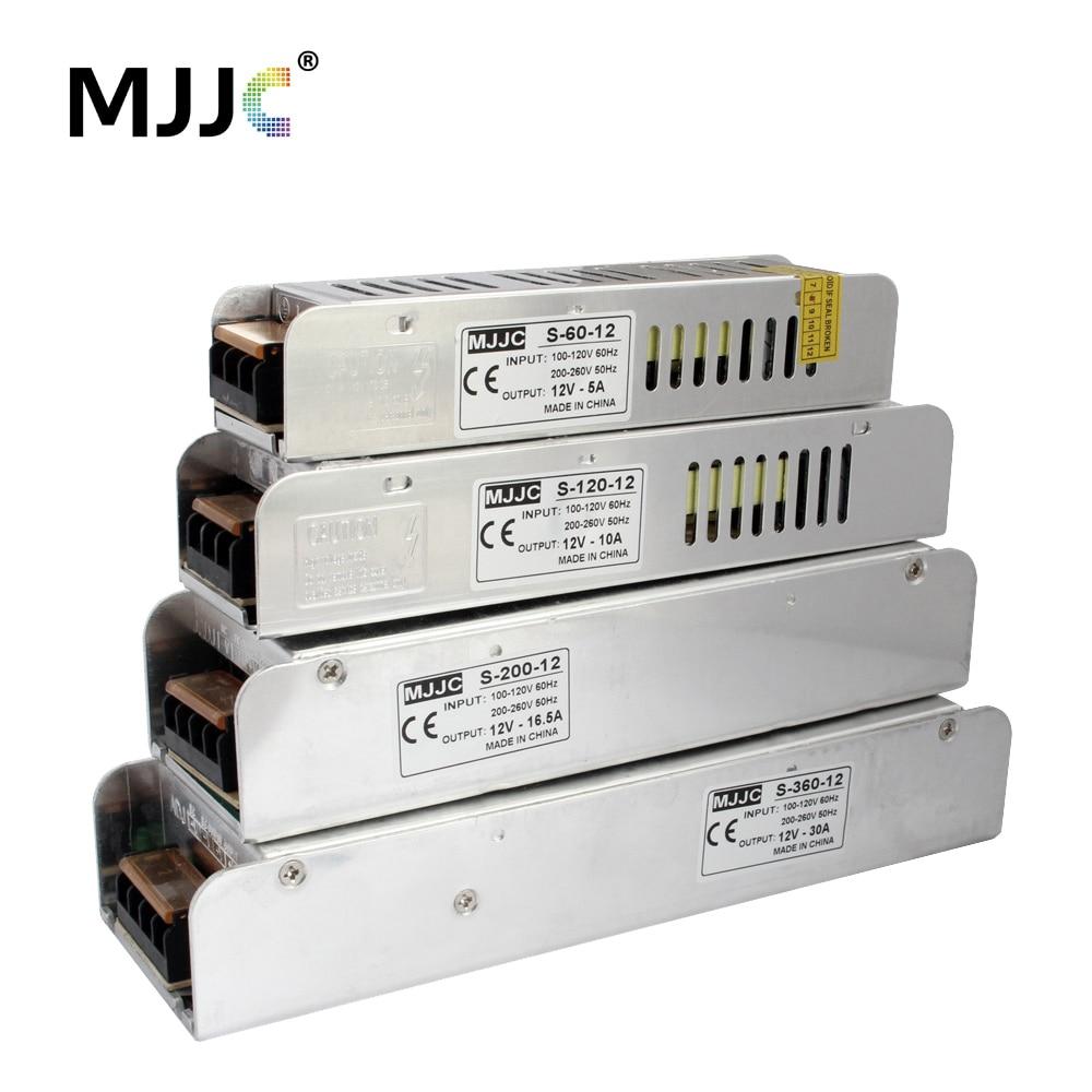 12 voltios de unidad de fuente de alimentación 110 V 220 V AC a 12 V 5A 60 W 12.5A 150 W 10A 20A 30A fuente de alimentación de conmutación LED tira de luz transformador