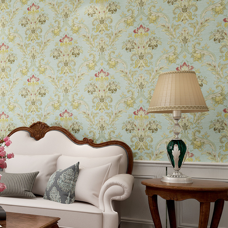 American style Simple 3D Embossed Living Room Background Wallpaper For Bedroom Floral Wallpaper Roll Desktop Wall Paper