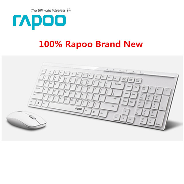 Oringinal Rapoo X8100 2.4G Wireless Optical Keyboard & Mouse Combos ...