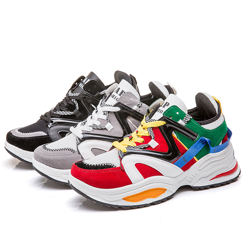 2019 Spring Sneakers Men Comfortable Fashion Tenis Masculino Adult zapatos de hombre Lace Up Breathable Mesh Color Lovers Shoes in Men 39 s Casual Shoes from Shoes