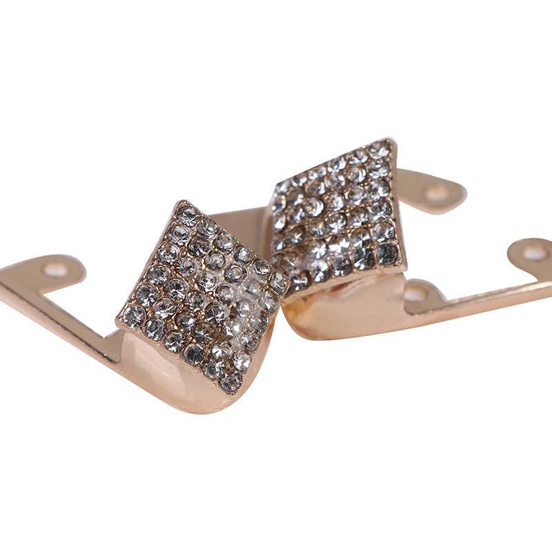 1 çift yüksek topuklu ayakkabı kırık ayak kafa Metal kapak tamir parçaları ayakkabı ayak koruma Metal malzeme ayakkabı klipleri süslemeleri