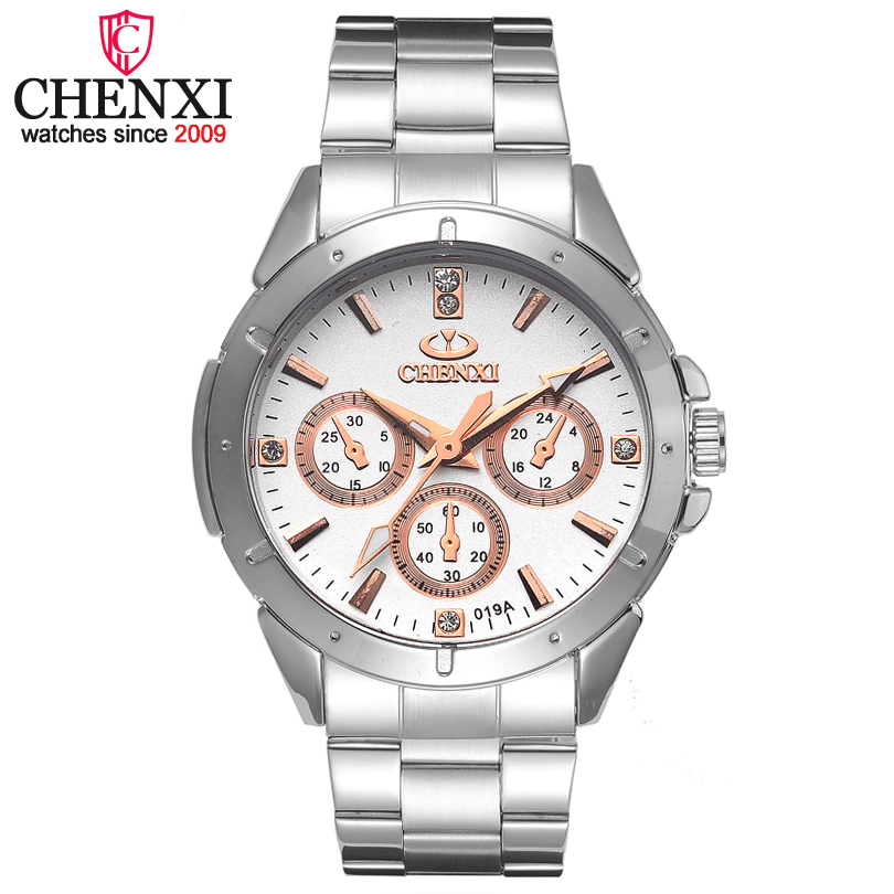 CHENXI Brand Quartz Watch Lover Top Luxury Gold Watches Men Clock Steel Women Wristwatch Couple Quartz-Watches Relogio Masculino