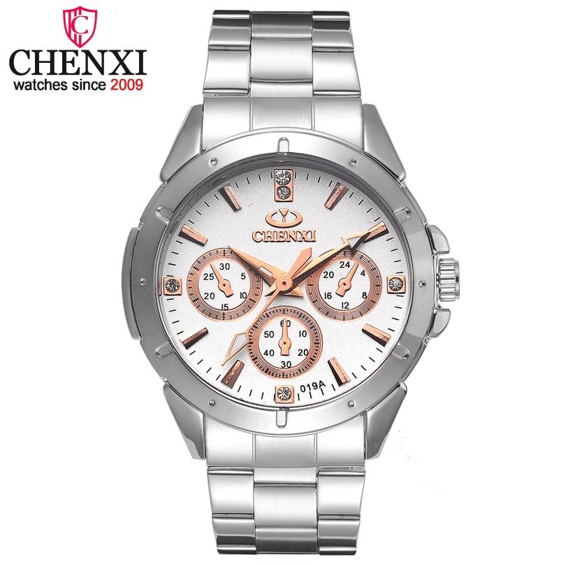 CHENXI Brand Quartz Watch Lover Top Luxury Gold Watches Men Clock Steel Women Wristwatch Couple Quartz-Watches Relogio Masculino