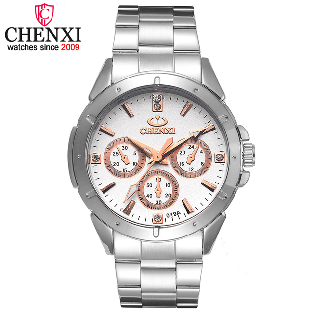 CHENXI Brand Quartz Watch Lover Top Luxury Gold Watches Men Clock Steel Women Wr