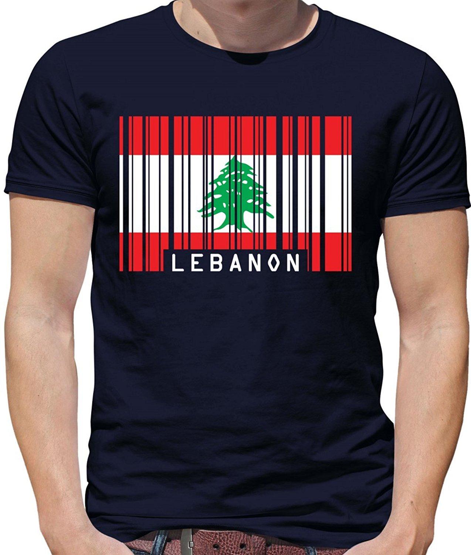 2cdebbc724 Mens T Shirts Fashion 2019 Lebanon Barcode Style Flag - Mens Crewneck T- Shirt -