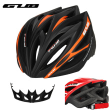 цена на GUB M1 Ultralight 21 vents Cycling Helmet MTB Mountain Road Bicycle Bike Helmet Integrally-molded Visor Helmet for Women Men