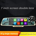 7 Inch Voice control Car Navigation Android Smart Rearview mirror Wifi Monitor Night Vision Dual Lens HD Camera Video Tachograph