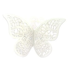 12 Pcs/lot Pearlescent Paper Butterfly Napkin Ring