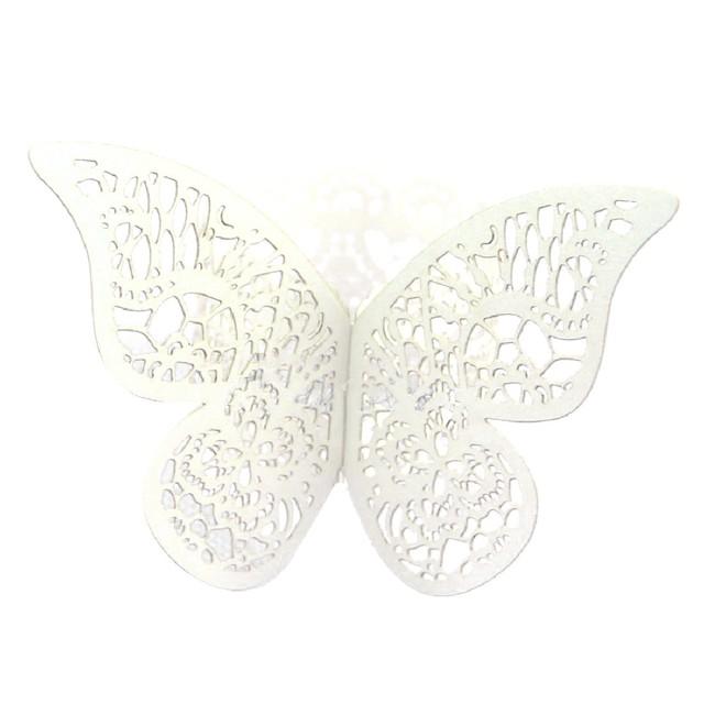 Paper Butterfly Design Napkin Rings