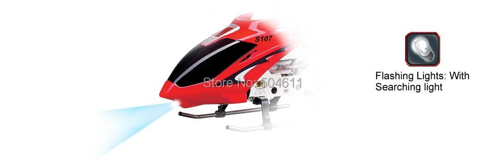 Syma S107G IR de 3 canales RC de hoja única modelo de helicóptero - Juguetes con control remoto - foto 5