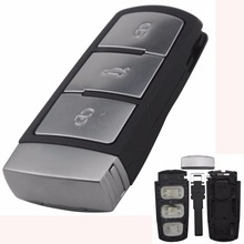 Intelligent Replacement Shell Smart Remote Car Key Case Cover Style For VW VOLKSWAGEN CC Passat Magotan 3 Buttons With logo