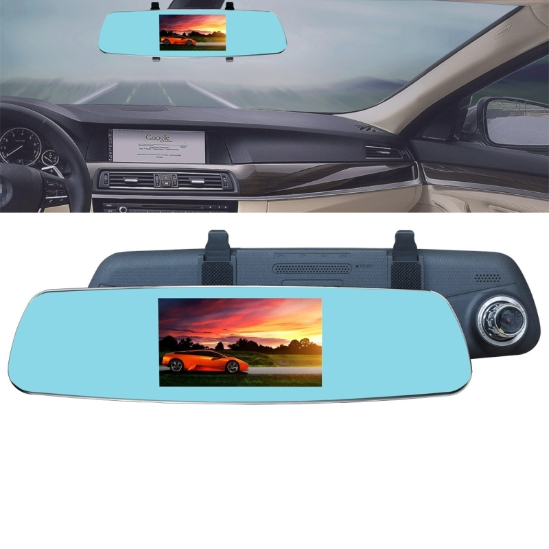 Car-Dvr Rearview-Mirror Vehicle Loop-Recording Dash-Cam Anti-Glare Support 1080P HD R18