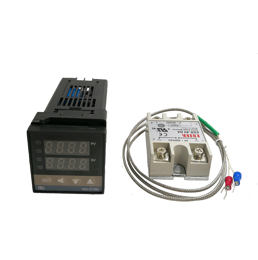 medium resolution of rex c100 digital thermostat temperature controller pid thermometer ssr 40da solid state relay k thermocouple
