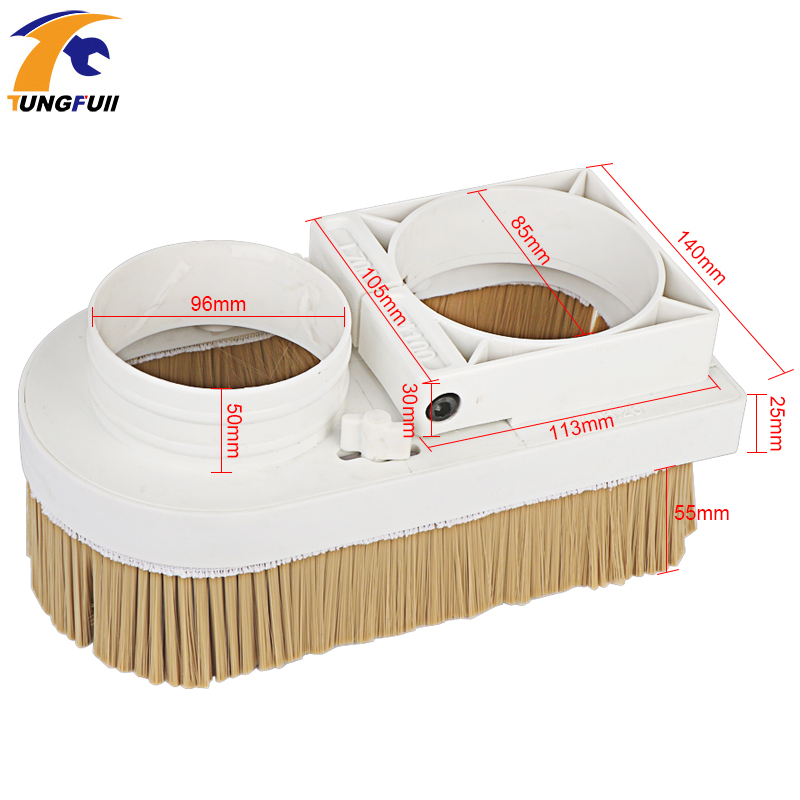 Image 4 - Engraving machine vacuum cover accessories plastic adsorption nut woodworking removable dust cover dust cover engraving machine-in Woodworking Machinery Parts from Tools