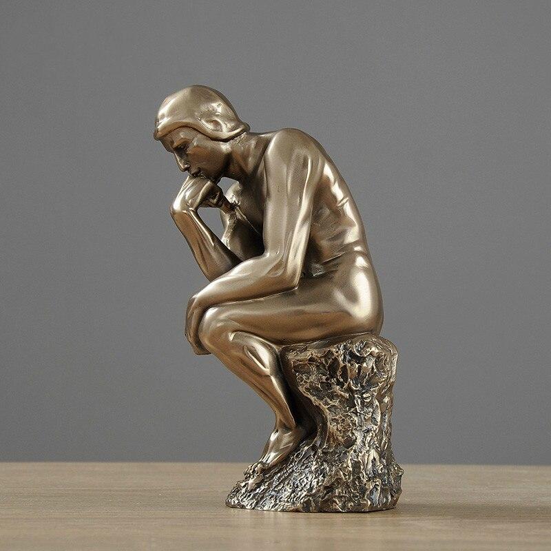 Statue de caractère européen accessoires de décoration de maison Figurines miniatures en résine modernes