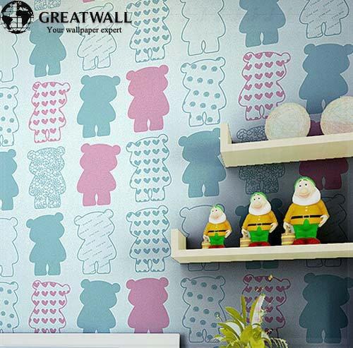papel pintado del medio ambiente impreso de dibujos animados mural animales infancia pared papeles para habitacin