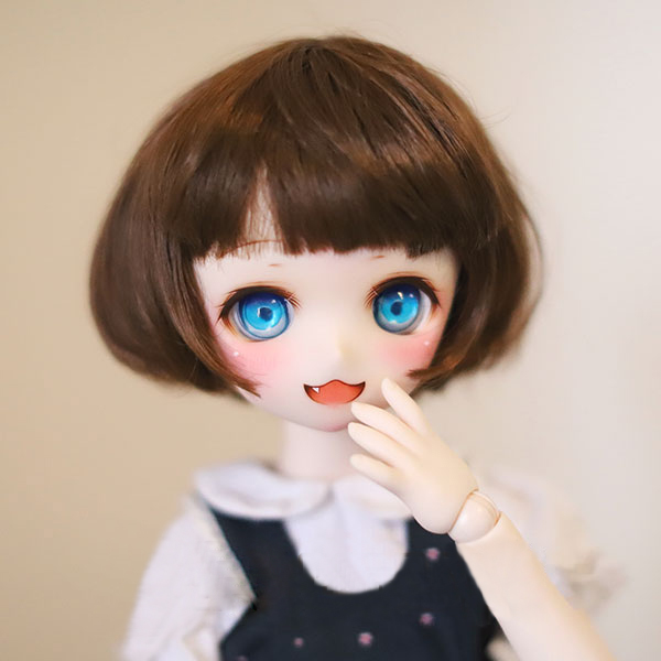 BJD doll wigs Imitation mohair soft wigs bob cut available for 1/6 1/4 1/3 BJD SD MDD doll accessories doll wigs jd042 1 12 1 8 short cut mohair doll wigs size 4 5 inch 5 6inch fashionable bjd doll wigs tiny doll wig