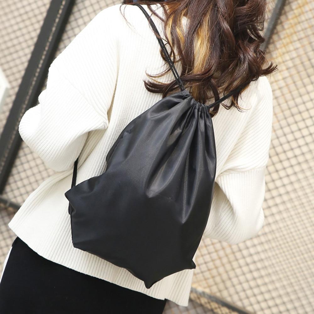 Мода Мужская Твердые шнурок для хранения сумка рюкзак Комплект карман MAY30