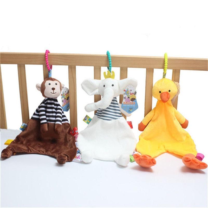 Creative Baby Appease Towel Toys Cute Animal Plush Doll Teether Developmental Baby Towel Stroller Bed Sleeping Blanket Toy