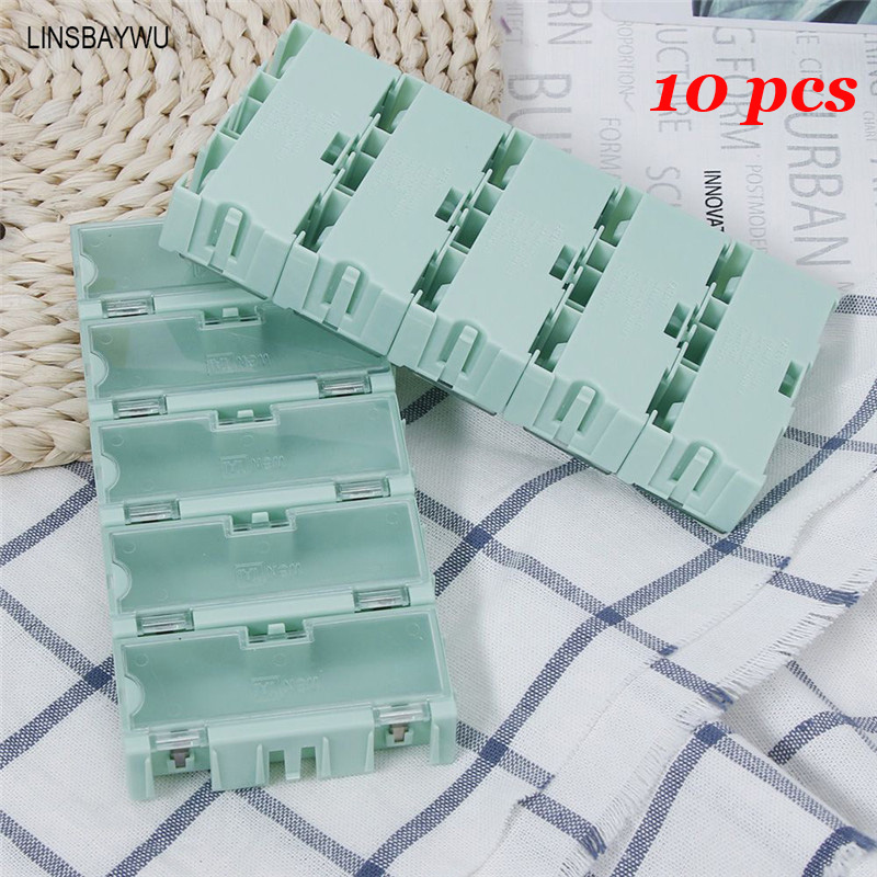 10 Teile/satz Tragbare Elektronische komponente aufbewahrungsbox IC ...