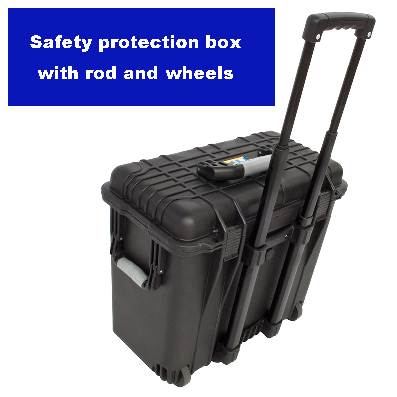 Professional Tool Case With Wheels And Rod Toolbox Suitcase Impact Resistant Sealed Waterproof Plastic Camera Case With Foam
