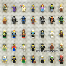 Fit Display Base Plates Stand Wall 50*50 studs 32*32 Mini DIY Figures People Pack MOC Set Building Blocks Toy For Children Gifts