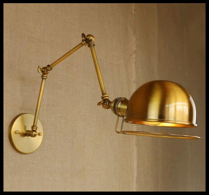 American Vintage Wall Lamps Art Decoration E27 Brass Bronze Bar Restaurant Coffee Shop s ...